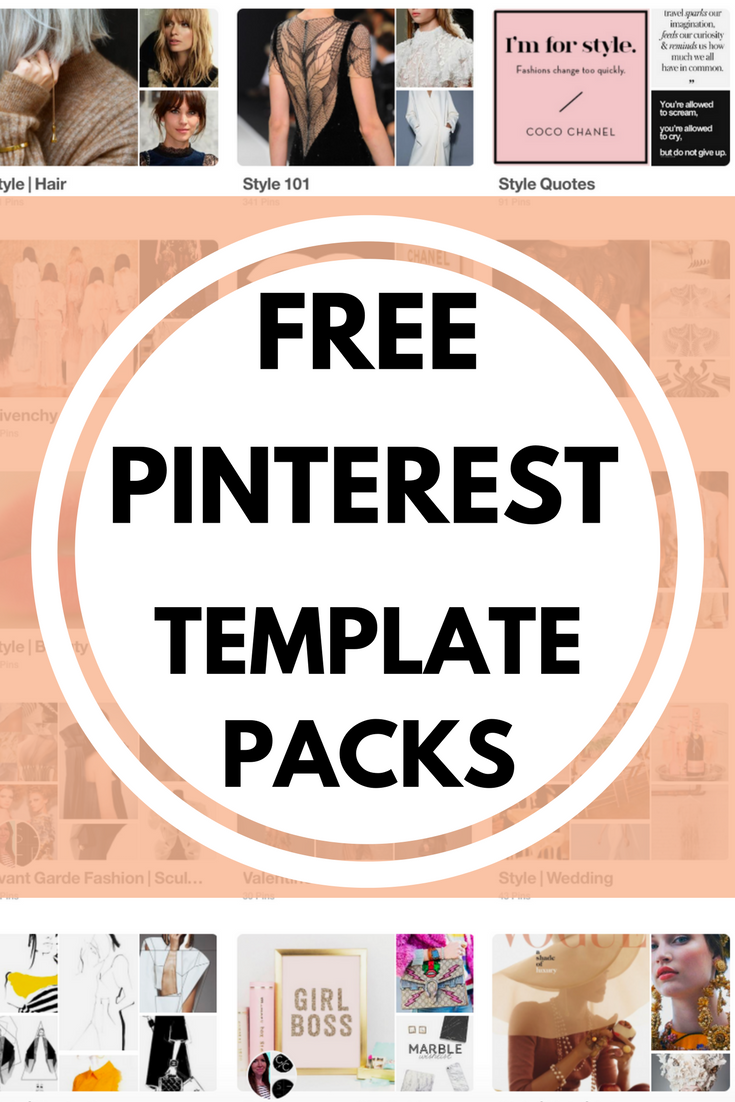 FREE PINTEREST TEMPLATE PACKS Created by a designer, wiht reference to current design trends & strategically optimised styles for Pinterest SEO. Fully editable with elements & layout to cater for your branding, colors, font & URL. CLICK TO ACCESS.